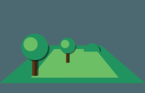 Symbol: Grundstück